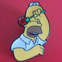Simpsons Pin Homer Meatball Shame Enamel Metal Brooch Badge Lapel