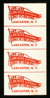 US Stamps Strip of 4 Lancaster Centennial 1949 Labels NH