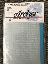 US Vehicle Registration Code (White), Archer AR35019W, 1/35 scale