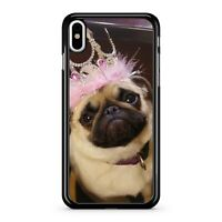 Cuddly Cute Adorable Majestic Pug Dog Loyal Pet Pretty Tiara 2D Phone Case Cover