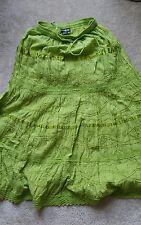 Skirt GREEN SZ small BOHO HIPPIE BROOMSTICK GYPSY GOTH WITCHY SALSA FIESTA