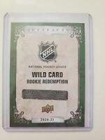 2020-21 UD Artifacts Hockey #220 Wild Card Rookie KEVIN LANKINEN Redemp EMERALD