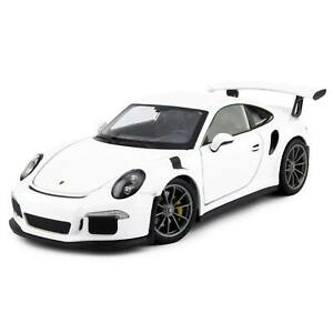 Porsche 911 GT3 RS 2016 white - Welly 1:24 Scale Diecast Model Car