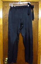 Dries Van Noten Black Rayon Drawstring Pants Sz 36 garconne