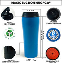MAGIC SUCTION MUG Go Blue ✈ Travel coffee cup for all Mighty Hikes +FREE GIFT🎁
