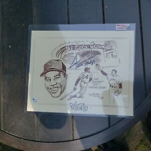 Willie Mays And Bill Gallo Signed Litho With Certification