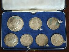 More details for 1967 john pinches sterling silver coronations and jubilees medallic cased set