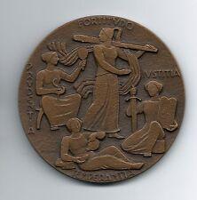 DOMUS IVSTITIAE/ Prudentia, Iustitia, Temperantia / Justice/ BRONZE MEDAL / M40