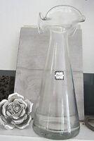 vintage vase stabiles klares glas mundgeblasen formschön 26 cm 673g top