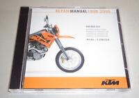 Werkstatthandbuch / Workshop Manual KTM 400 - 660 LC4 Baujahre 1998 - 2005