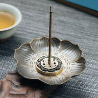Lotus Incense Burner Holder Flower Statue Censer Plate For Sticks & Cone BS