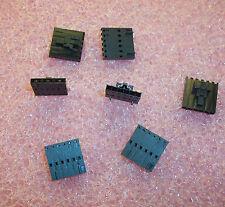 QTY (100) 50-57-9406  MOLEX 6 POSITION CRIMP HOUSING W/ LATCH  2.54mm ROHS