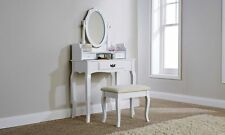 Elegant Black Lumberton Dressing Vanity Makeup Table With Mirror and Stool Set