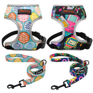 Small Dog Harness and Leash Set Adjustable & Comfortable Padded Reflective Vest