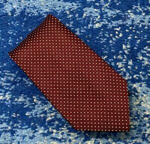 Brooks Brothers Golden Fleece Burgundy Black Cream Geometric Handmade Necktie US