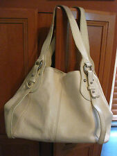 FURLA white textured 100% genuine leather tote shopper made in Italy