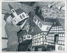 1959 Ornate Doll Houses Put in Storage Wuppertal Zoo Germany Press Photo