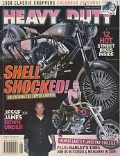 Heavy Duty Harley Davidson Magazine  + 2 Posters Contents photo # 2