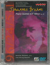 Brahms - Piano Quintet In F Minor, Op. 34: Ives String Quartet (DVD, 2002) New