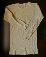 1940s Us Army Undershirt, Size 40, Long-Sleeve, Thermal, Wool, Ww2 (36+/Chest)