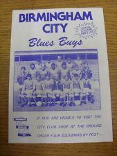 1983/1984 Birmingham City: Official 'Blues Buys' Souvenir Price List - Four Page