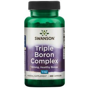 Swanson Triple Boron Complex Capsules, 3 mg, 250 Count.