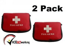 (2 Pack) First Aid Kit - Small & Lightweight  - Essential for Car and Travel
