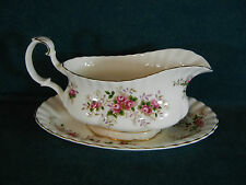 Royal Albert Lavender Rose Gravy Boat with Separate Under Plate
