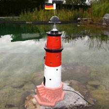 LEUCHTTURM BÜSUM SYLT 85 cm DOPPELICHT rot weiß Garten Deko Figur maritim MEER