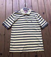 Tommy Hilfiger men's XXL yellow & navy blue stripe short sleeve polo shirt