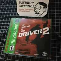 DRIVER 2 PS1 (2 DISC SET, CASE, MANUAL) USED,TESTED,WORKING.WEAR. PLAYSTATION 1