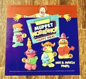 1994 McDONALDS MUPPET WORKSHOP COMPLETE SET OF 5 WITH UNDER 3 TOY BRAND NEW