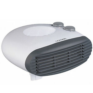 Goldair Electric Fan Heater White 2000W Portable Thermostat Room Floor Table