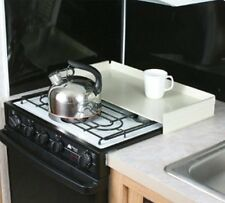 Camco RV Universal Fit Stove Top Cover Work Area Camper Trailer Kitchen White