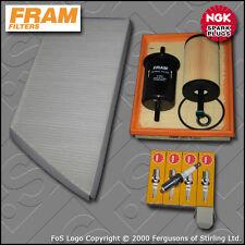 KIT di servizio PEUGEOT 206 1.4 8V FRAM Olio Aria Carburante Cabin filtri TAPPI (2000-2003)
