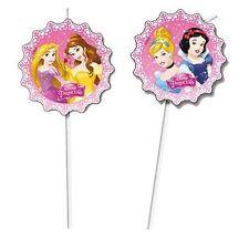 Disney Princess Fiesta De Cumpleaños Infantil Medallón Pajitas - Paquete de 6