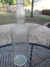 1962 SMIRNOFF 4/5 Quart Vodka Liquor Bottle - Embossed Graphics Label
