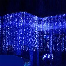 3M x 3M 300 LED Outdoor Curtain String Light Christmas Xmas Party Fairy Wedding