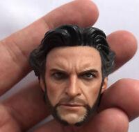 "Custom 1/6th Wolverine 1.0 Head Sculpt For 12"" Man Figure Body"