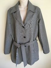 Eddie Bauer Womens Dress Trench Coat, Jacket, Lined, Classic Houndstooth, Size M