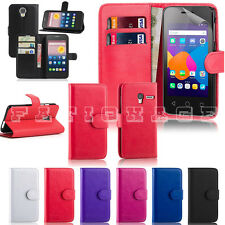 "Alcatel Pixi 4 4"" 3g 5"" 3g 4g 6"" 3g Leather Book Flip Stand Wallet Case Cover"