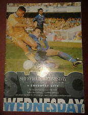 Sheffield Wednesday v Coventry City - Barclays League Div One - March 1992 MINT