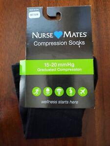NEW Nurse Mates Medical Compression Socks Black