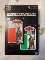 """Hasbro Star Wars 40th Black Series Bounty Hunters 6"""" Zuckuss & 4-LOM 2-Pack MOC"""