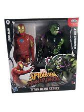TITAN HERO SERIES SPIDERMAN MAXIMUM VENOM IRON MAN VS VENOMIZED HULK
