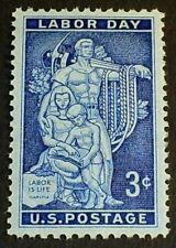 US Scott 1082- Labor Day, AFL-CIO Mural- MNH OG F-VF 3c 1956