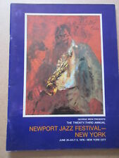 newport jazz festival new york Program Leroy Neiman Charlei Bird Parker 1975