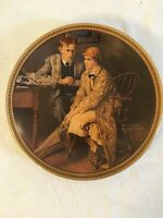"""KNOWLES NORMAN ROCKWELL """"CONFIDING IN THE DEN"""" COLLECTOR PLATE #1084F"""