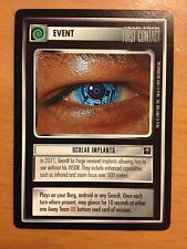 Star Trek CCG First Contact Ocular Implants NrMint-Mint