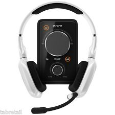 Astro Gaming A30 PC/PS4 Headset On Ear Headphones with Mixamp Pro White